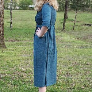 Vintage L.L. Bean farm dress rayon 8 petite